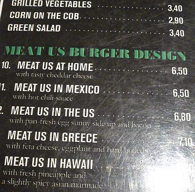 Meat Us Menu