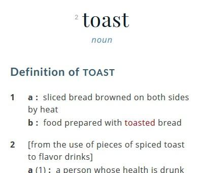 Toast defined