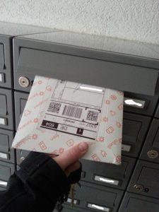 [Beweis, dass die Sendung in den Briefkasten gepasst hätte]