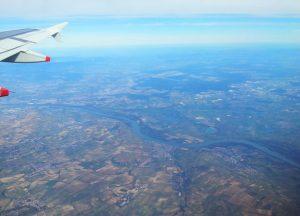 Blick aus Flugzeug auf Deutschland