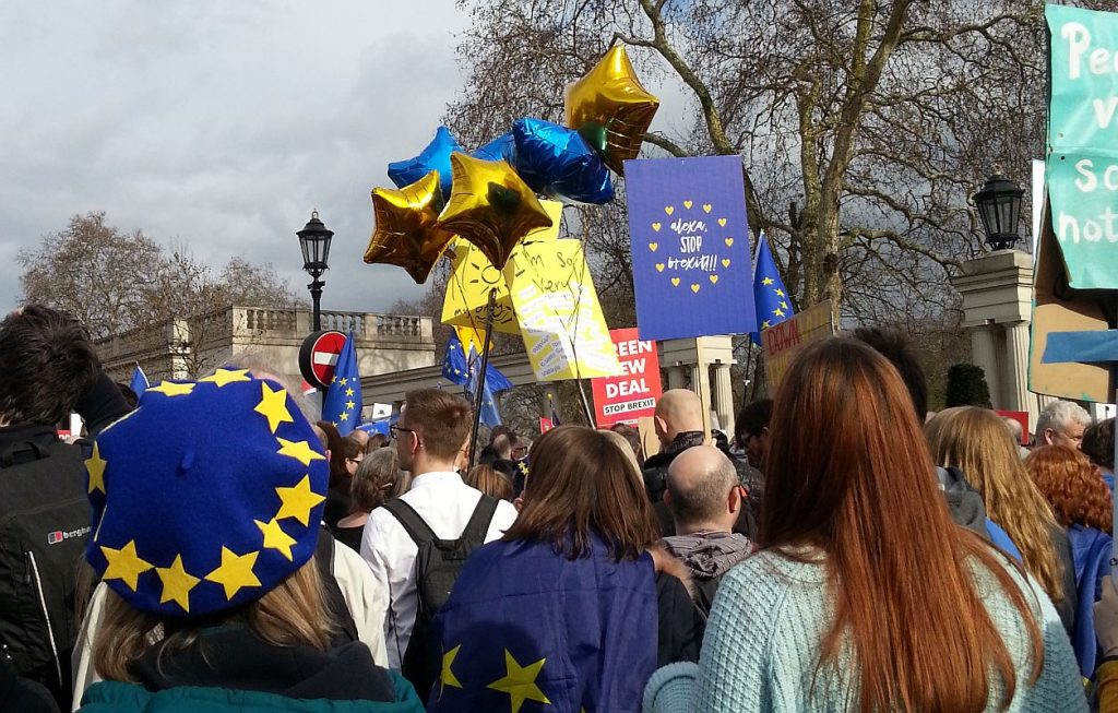 Demo gegen den Brexit