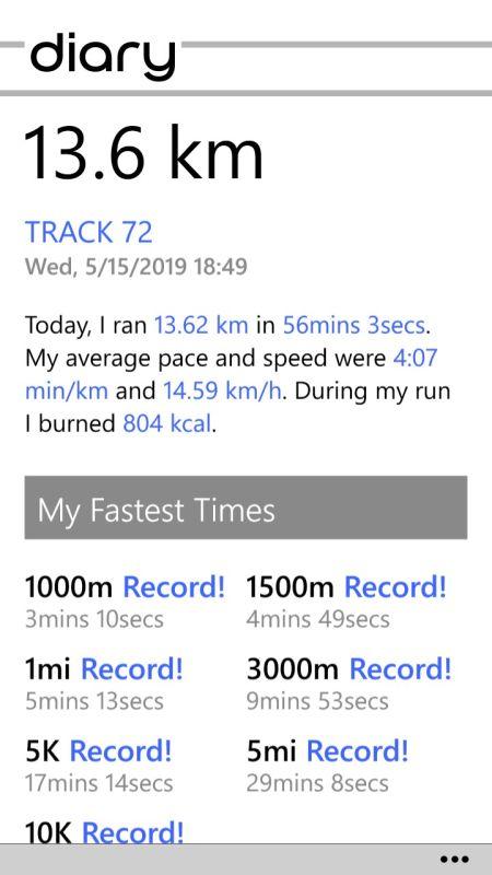 Screenshot Jogging-App