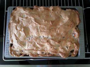 Rhabarberkuchen von oben