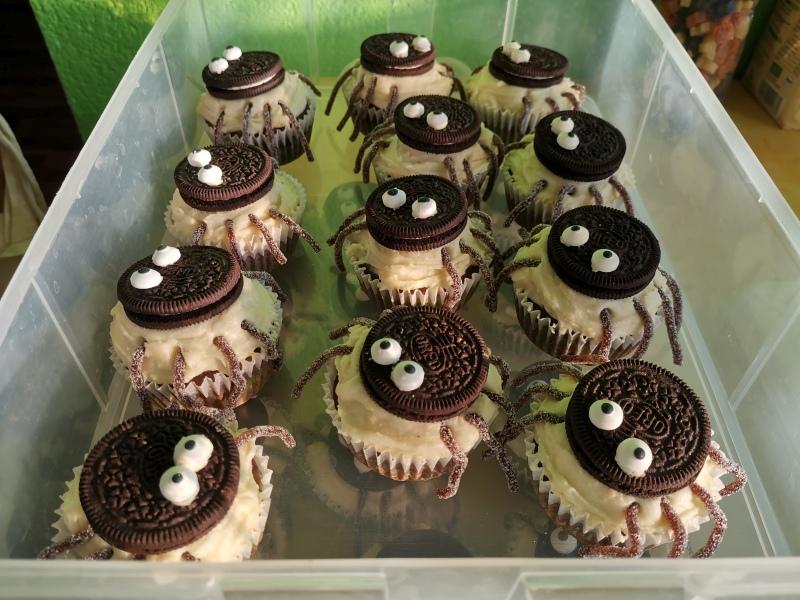 Spinnen-Cupcakes