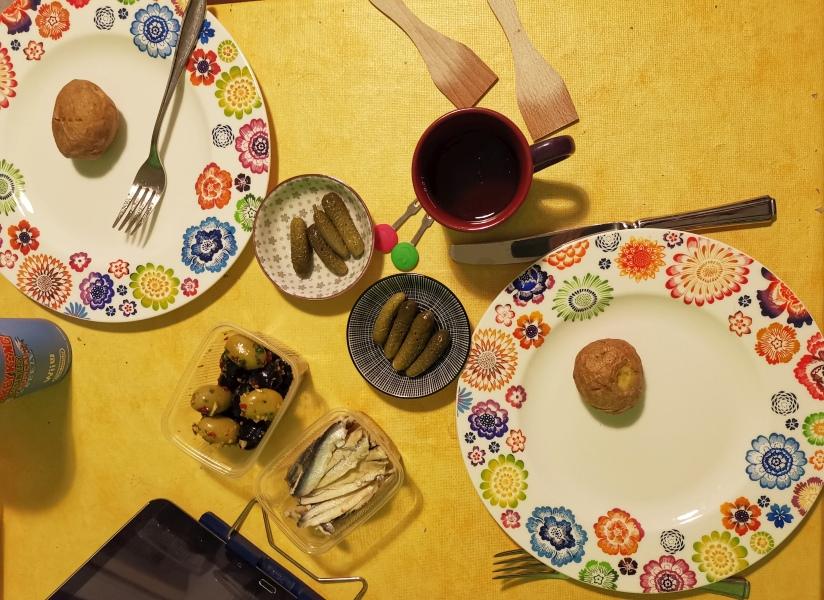 Raclette auf Tisch